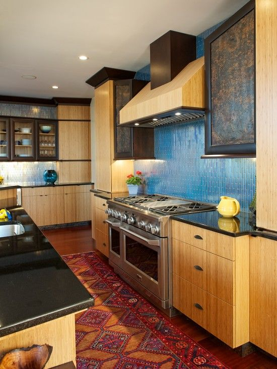 Great texture in this kitchen