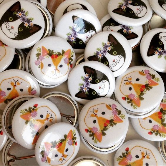 Cute little pins #kitten#cats#kitty#pins#buttons#art#design