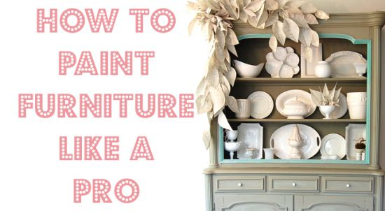 how to paint furniture
