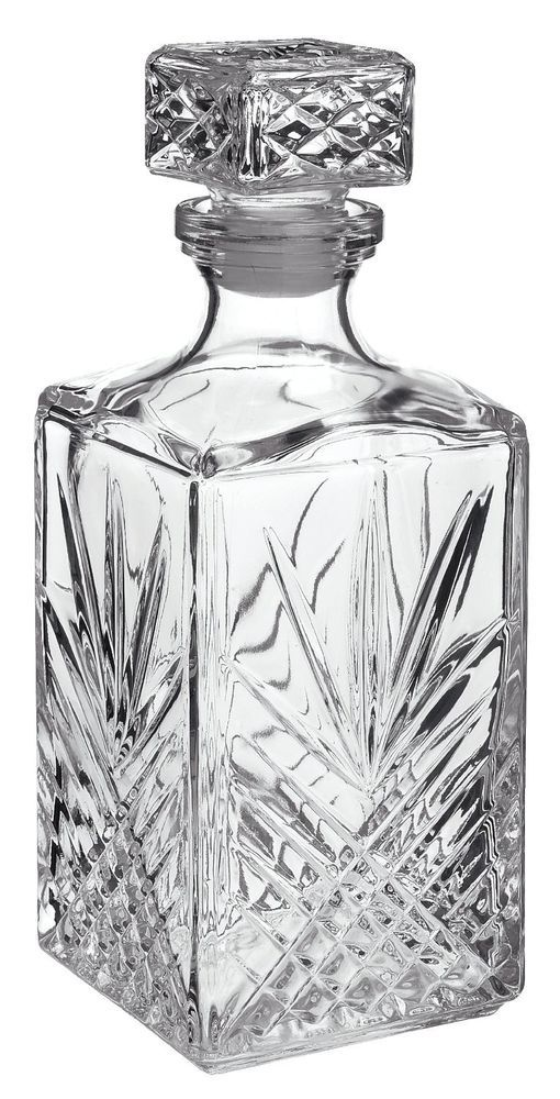 Beverage Decanter 33-3/4-Ounce  with Stopper Bormioli Rocco new free shipping…