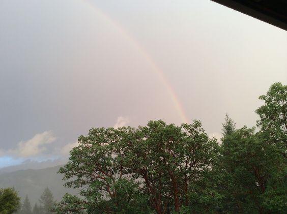 Half the rainbow