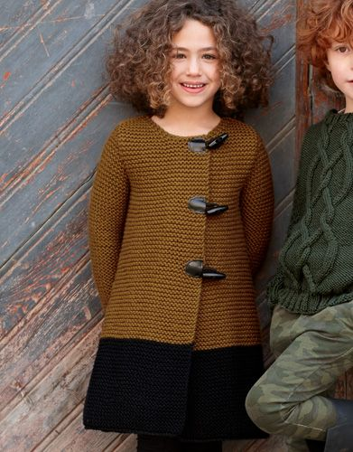 Book Kids 79 Autumn / Winter | 34: Kids Jacket | Chocolate brown / Black
