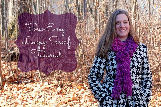 Loopy Scarf Tutorial (no crochet or knitting, just a seam using a sewing machine)