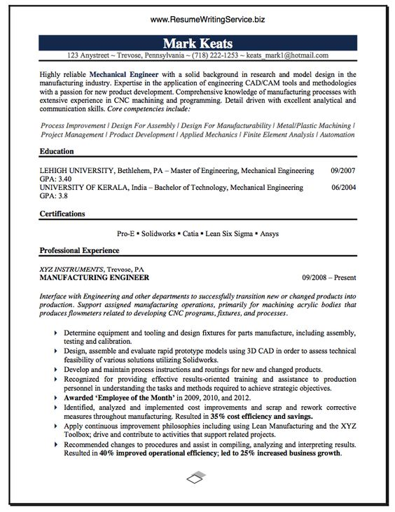 prepare resume for hvac career