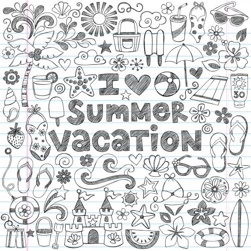 summer vacation doodle page concentration builder intricate coloring ...