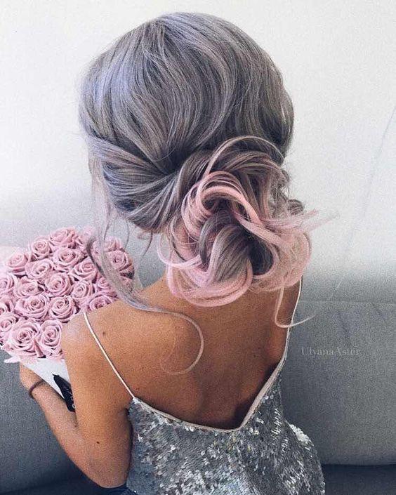 decolorar el cabello rosado y gris