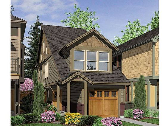 Zero Lot Line House Plan 034h 0160 Munising House Ideas