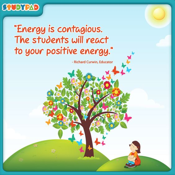 """Education Quotes For Kids: """"Energy Is Contagious. The Students Will React To Your"""