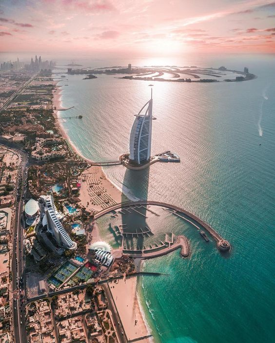 Aerial view  Dubai, United Arab Emirates. Photo by @100.pixels