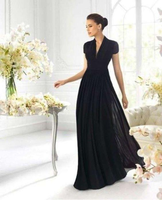 Vestidos de fiesta de chifón: fotos de los modelos - Vestido negro: