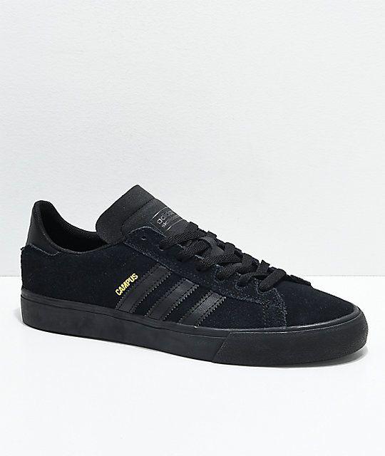 marca popular estilo popular moda mejor valorada adidas Campus Vulc II All Black Shoes (With images) | Adidas ...