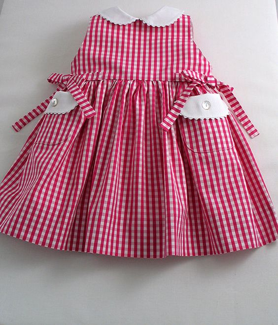 Lipstick Pink and White Gingham Sleeveless by patriciasmithdesigns