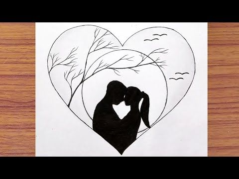 Pencil Drawing Of Couple Moonlight For Beginners Inside Love Couple Drawing Step By Step Y In 2020 Couple Drawings Cute Drawings Of Love Art Drawings Sketches Simple