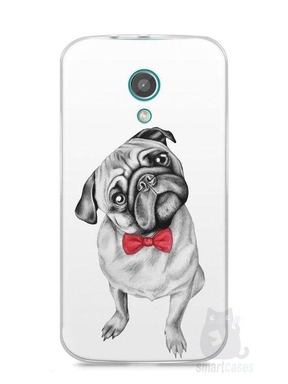 Capa Moto G2 Cachorro Pug Estiloso #2 - SmartCases - Acessórios para celulares e tablets :)