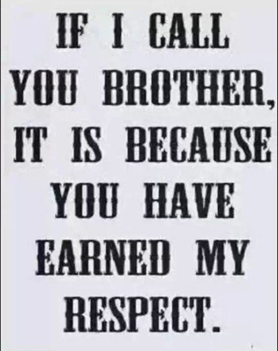 Hey Brother!  From A Sister!!!