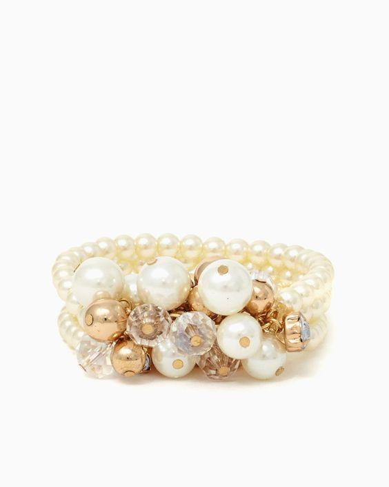 charming charlie | Attention Please Pearl Bracelet | UPC: 410006747197 #charmingcharlie