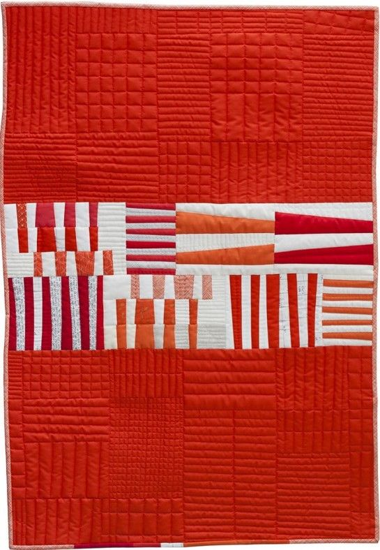 Totem quilt by Carolyn Friedlander: