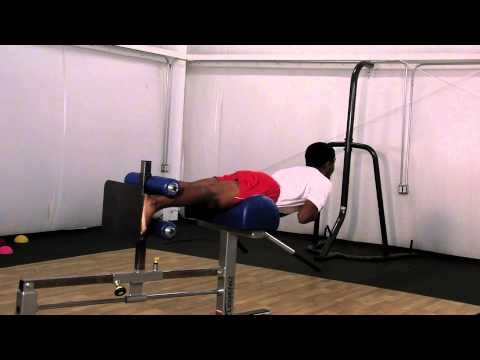 Glute Ham Gastroc Raise- DoctorYessis.com Sports Training - YouTube