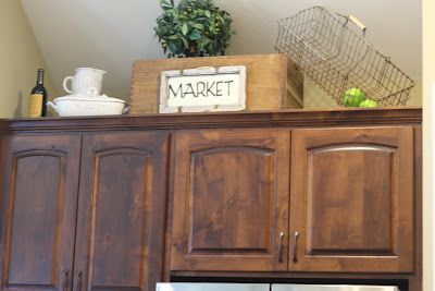 Above cabinet decor cabinet decor and above cabinets on pinterest - We collect the top rated kitchen cabinet ...