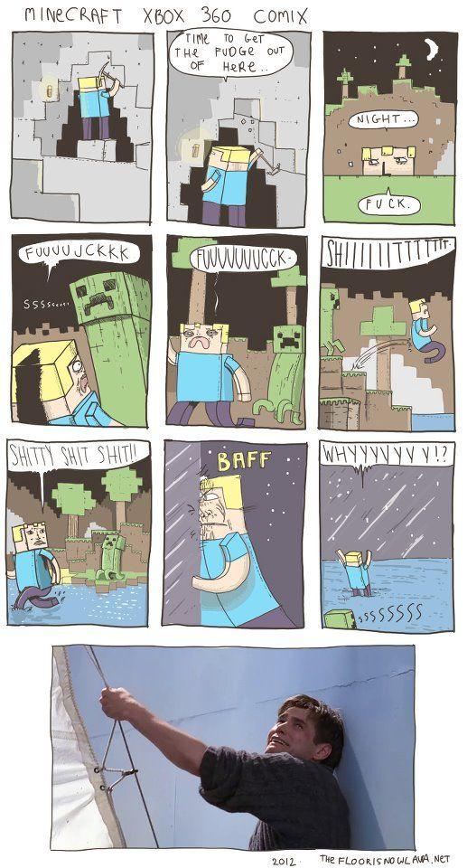 Minecraft is such a fun game.