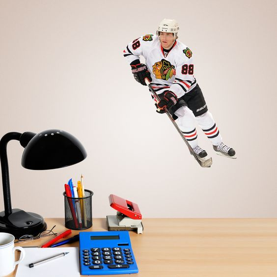 Patrick Kane Teammate Fathead Wall Graphic Chicago Blackhawks Wall Decal Sports Home Decor