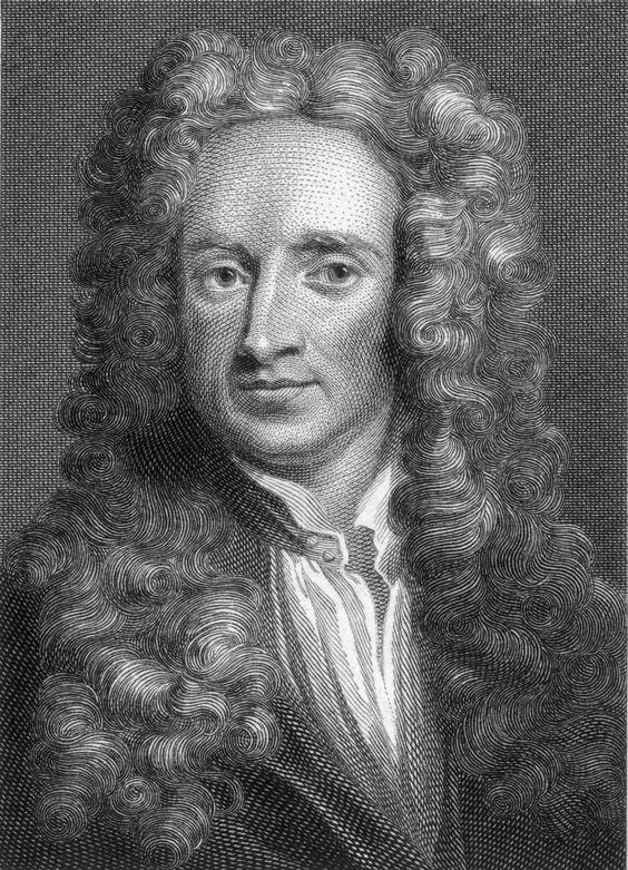 Isaac Newton. 4-1-1643/ 31-3-1727. hij was een Engelse natuurkundige. Vaak wordt hij gezien als een erg belangrijke wetenschapper. Hij is bekend geworden door de 3 Wetten van Newton, door de Newtontelescoop en zijn beschrijving en formule voor zwaartekracht. Hij zag een appel uit een boom vallen. Hij vroeg zich af waarom de appel viel, maar de maan niet. Newton had d.m.v deductie een natuurwet opgesteld. Deze zorgt ervoor dat de hemellichamen in een vaste baan draaien en dat wij blijven…