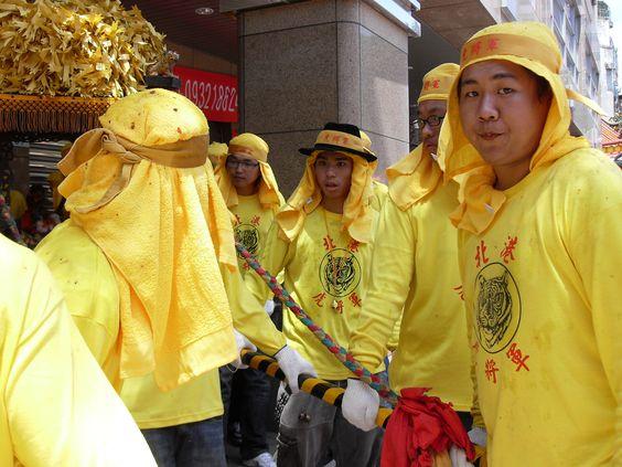 """Photo by: Joanna Bzdyl Tajwan. Bractwo """"Tygrysa"""". Uczestnicy procesji bogini morza - Mazu. #konkurs #blizejazji #cspa #taiwan"""