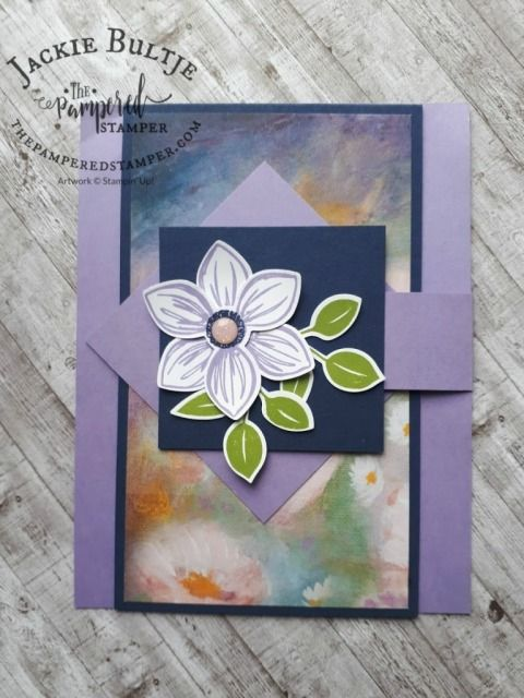Fun Fold Flap Card With Perennial Essence In 2020 With Images