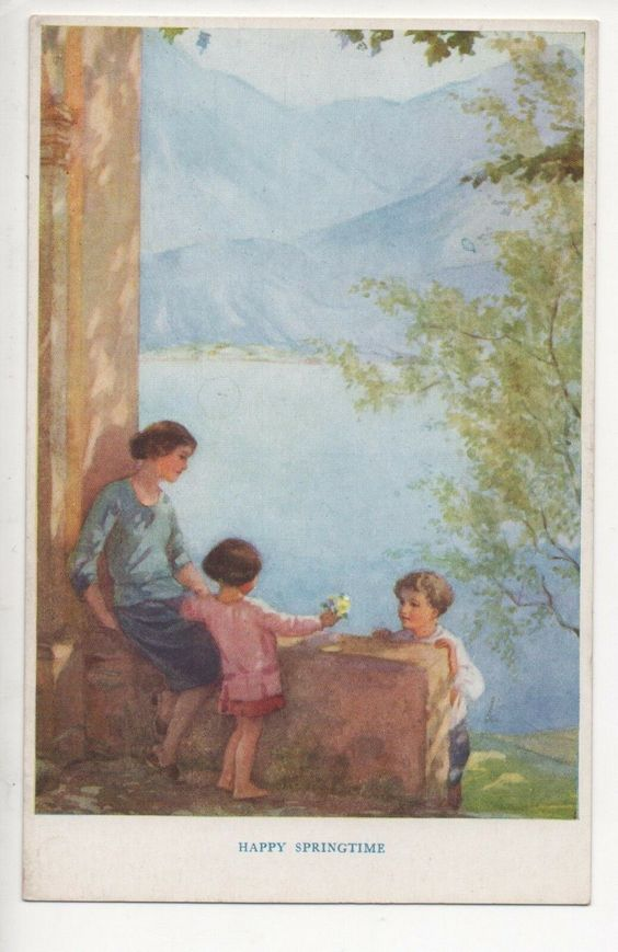 HAPPY SPRINGTIME, MARGARET Tarrant, Ta 406 - EUR 1,99 | PicClick IE