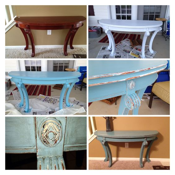 Materials Distressed And Glazed: Before, Primed, Painted With Valspar In Trade Secret