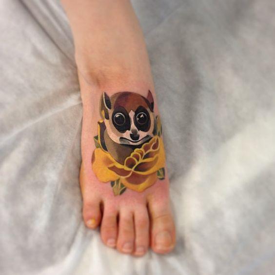 Foot tattoo by Sasha Unisex