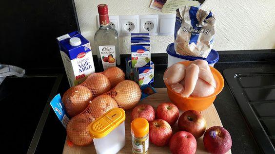 ...design & wein...: Was aus dem Dutch Oven: Apfel-Curry-Hühnchen