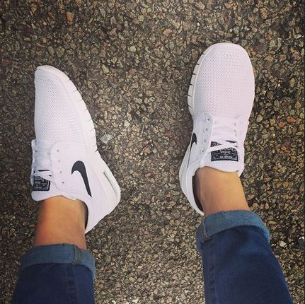 Keep it fresh in the Nike Skateboarding Stefan Janoski Max white trainers c/o @_foreverandaday