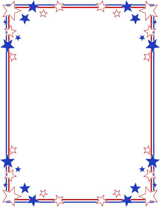 4th of july star border