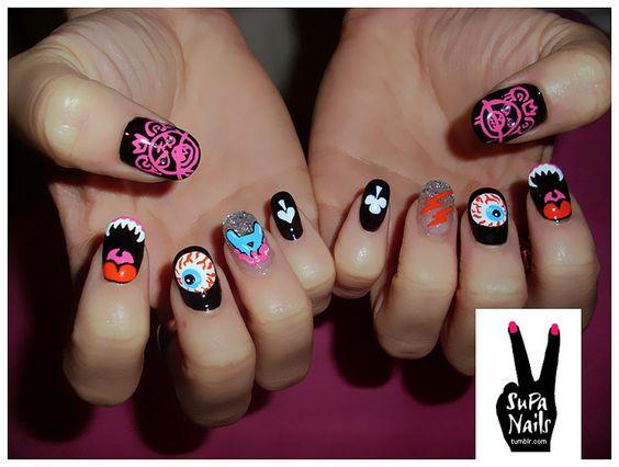 Ahhh!: Nails Art, Nails Beauty, Awesome Nails, Nails Nailart, Art Nailart, Nail Design, Mishka Nails, Soup Nails