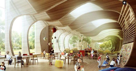 A escola ganhou um prémio mundial pelo design e construção em 2014 e situa-se na região de Guastalla, em Itália. Foi construída depois de duas escolas terem sido destruídas pelo terramoto que ocorreu naquela cidade em 2012