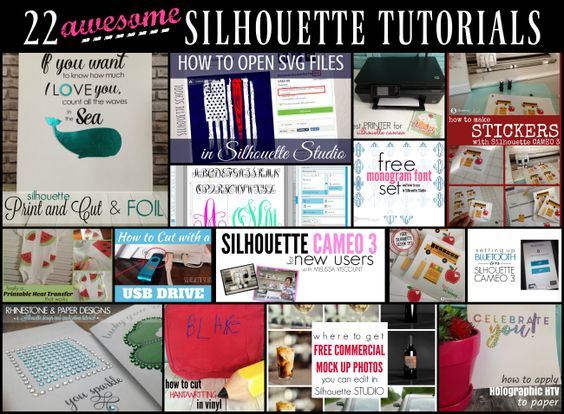22 Silhouette CAMEO Tutorials for Beginners on Up! (August Wrap Up)