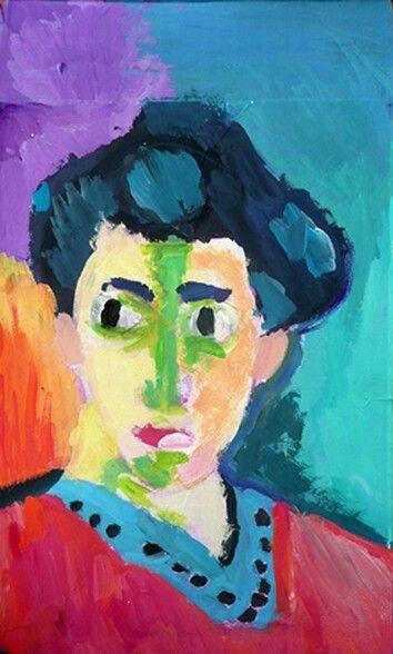 Inspiration... Matisse... la dame à la raie verte...