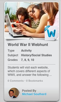 Webhunts are a great way for students to practice their research skills and access information through technology! This WWI Webhunt, & many more resources for educators, can be found at EdVOCAL.com!