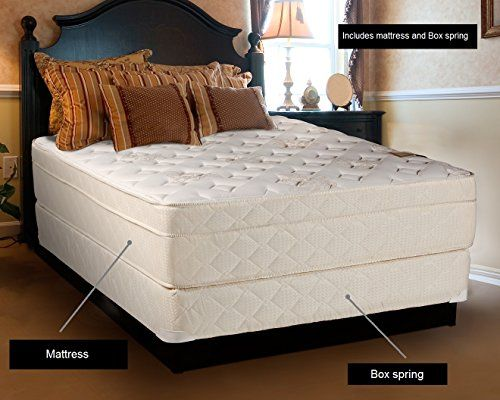 Dream Solutions Usa Beverly Hills Firm Foam Encased Eurotop Pillowtop Mattress And Box Spring Set Full 54 With Images Comfort Mattress
