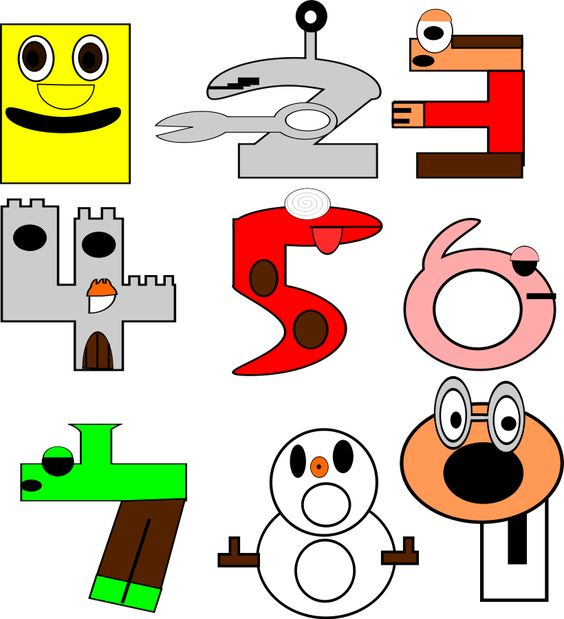 numbers cartoons Clipart, vector clip art online, royalty free ...