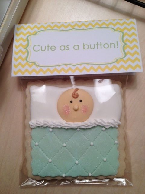 Here's a cookie I made for my sister in law's baby shower!