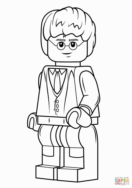 Lego harry potter coloring pages and lego on pinterest for Lego harry potter coloring pages