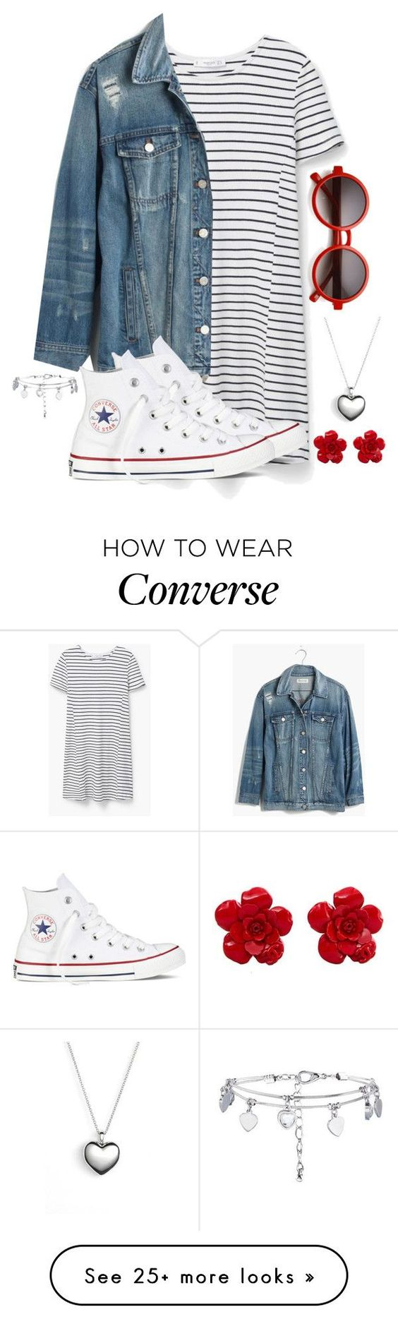 """""""This is totally my style"""" by galaxygirl12427 on Polyvore featuring MANGO, Madewell, Converse, Pandora, Chanel, women's clothing, women, female, woman and misses"""