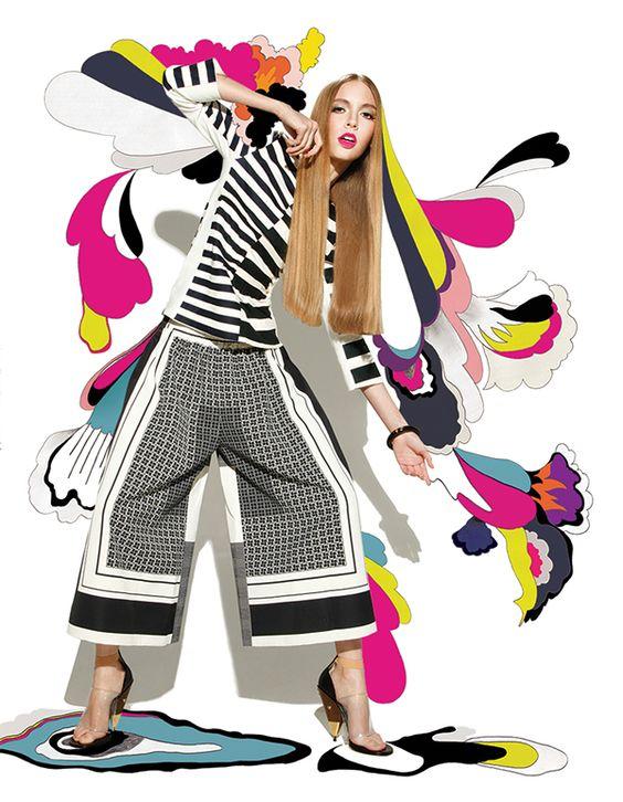 MEMORABLE MONIKER    My illustration spread for Harper's Bazaar Indonesia, 2013.   Photographer: Rici Linde Fashion Editor: Michael Pondaag