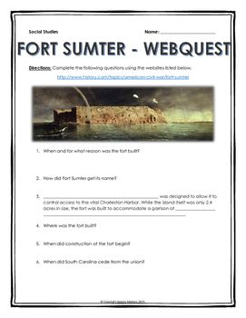 Collection Causes Of The Civil War Webquest Worksheet Photos ...