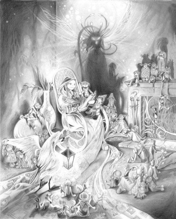 """The Storyteller"" — Original artwork by Stephanie Law."