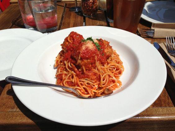 meatballs pasta | Food | Pinterest | Chicken Meatballs, Manhattan ...