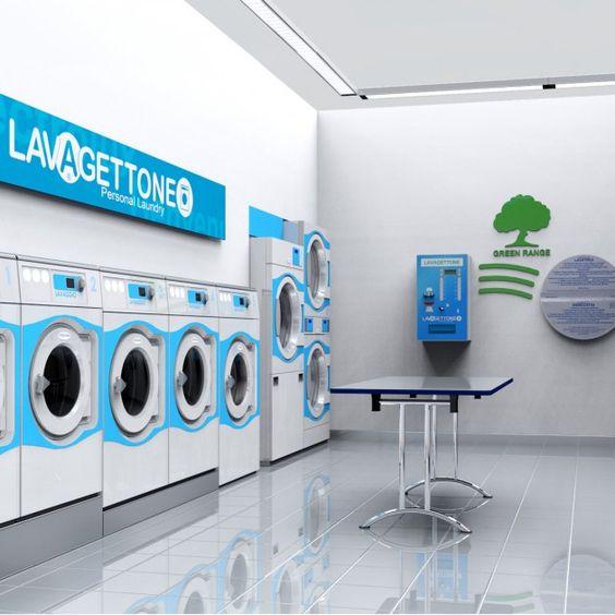 Coin laundry interior design  Lavagettone | Studio Sano | Laudromat ideas  | Pinterest | Coin laundry, Laundry and Studio