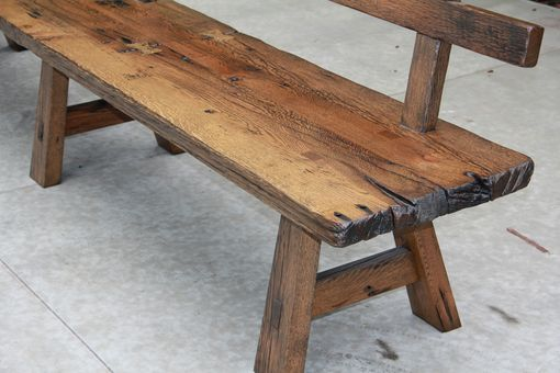 Custom Made Live Edge Barnwood Bench With Back Rest 15 Long Modern Wood Bench Rustic Wooden Bench Rustic Wood Bench